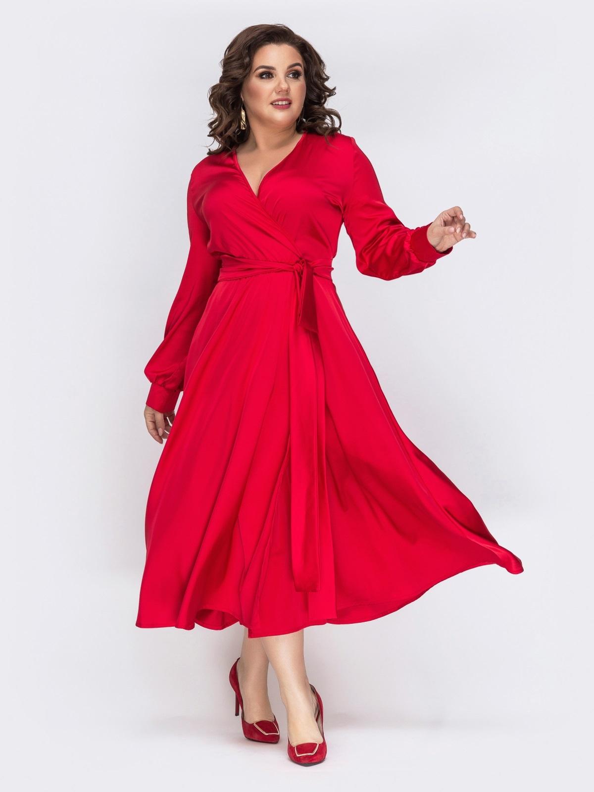 купить красное платье большого размера