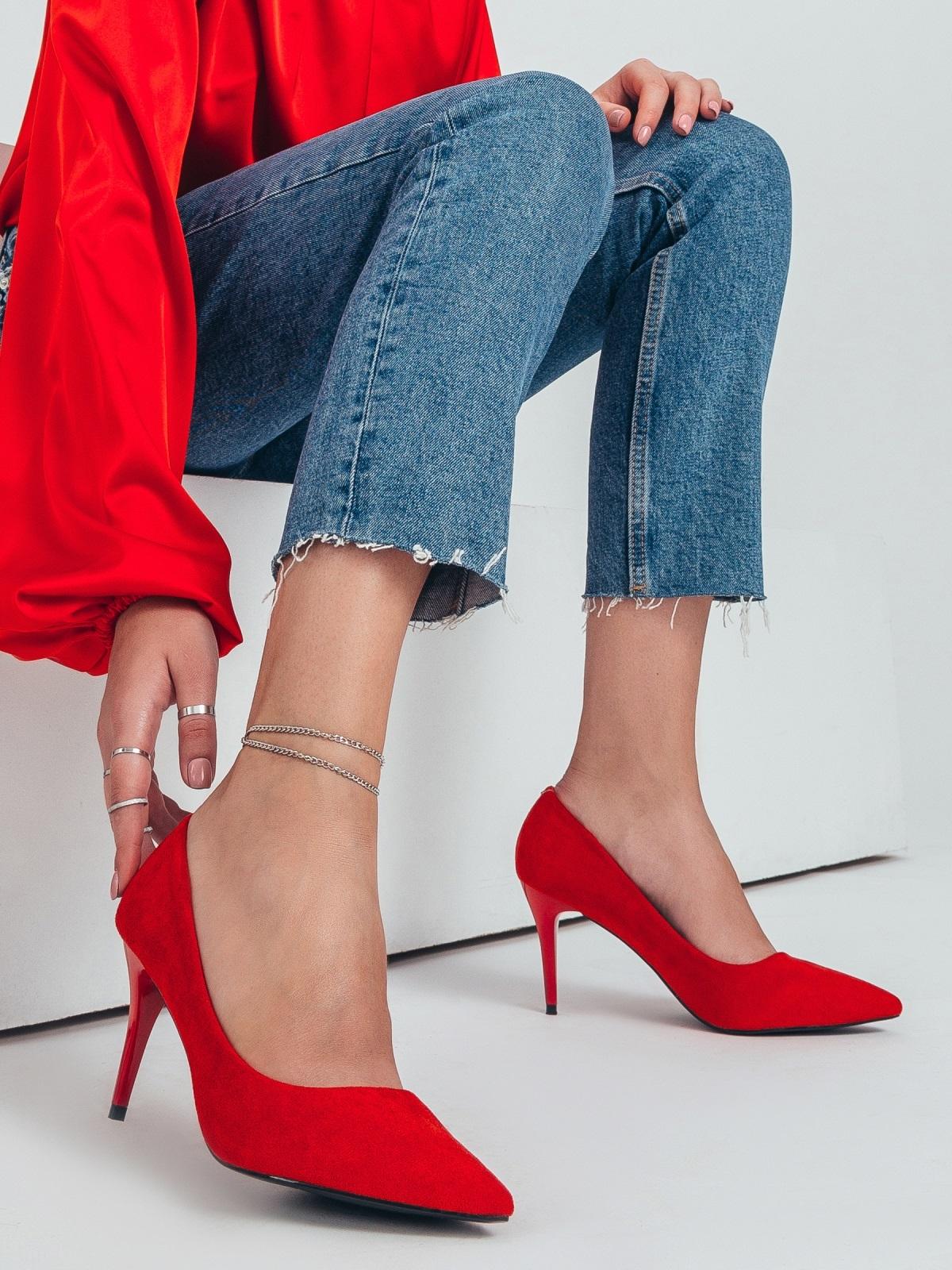 Туфли красного цвета на шпильке 50498, фото 1