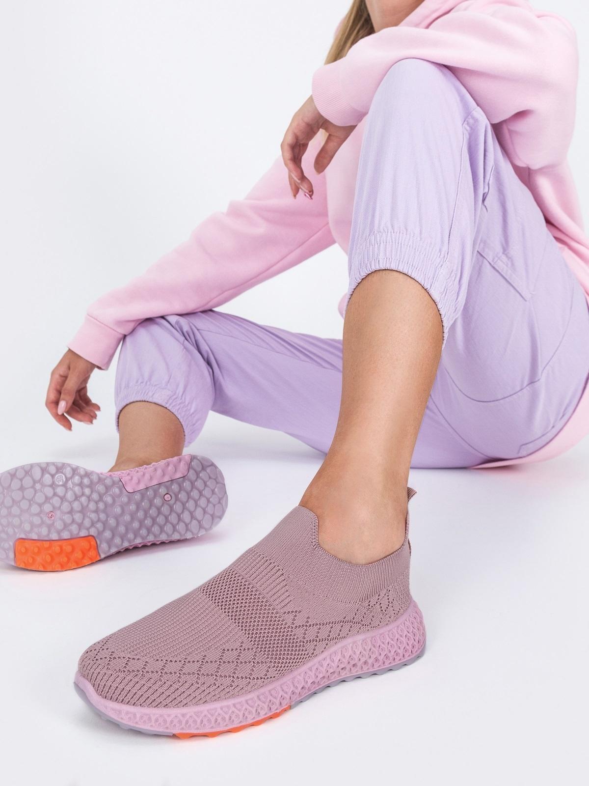 Кроссовки из текстиля розового цвета - 45976, фото 1 – интернет-магазин Dressa