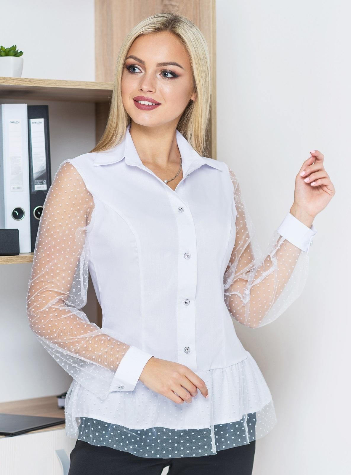 Блузка из фатина - dressa.com.ua