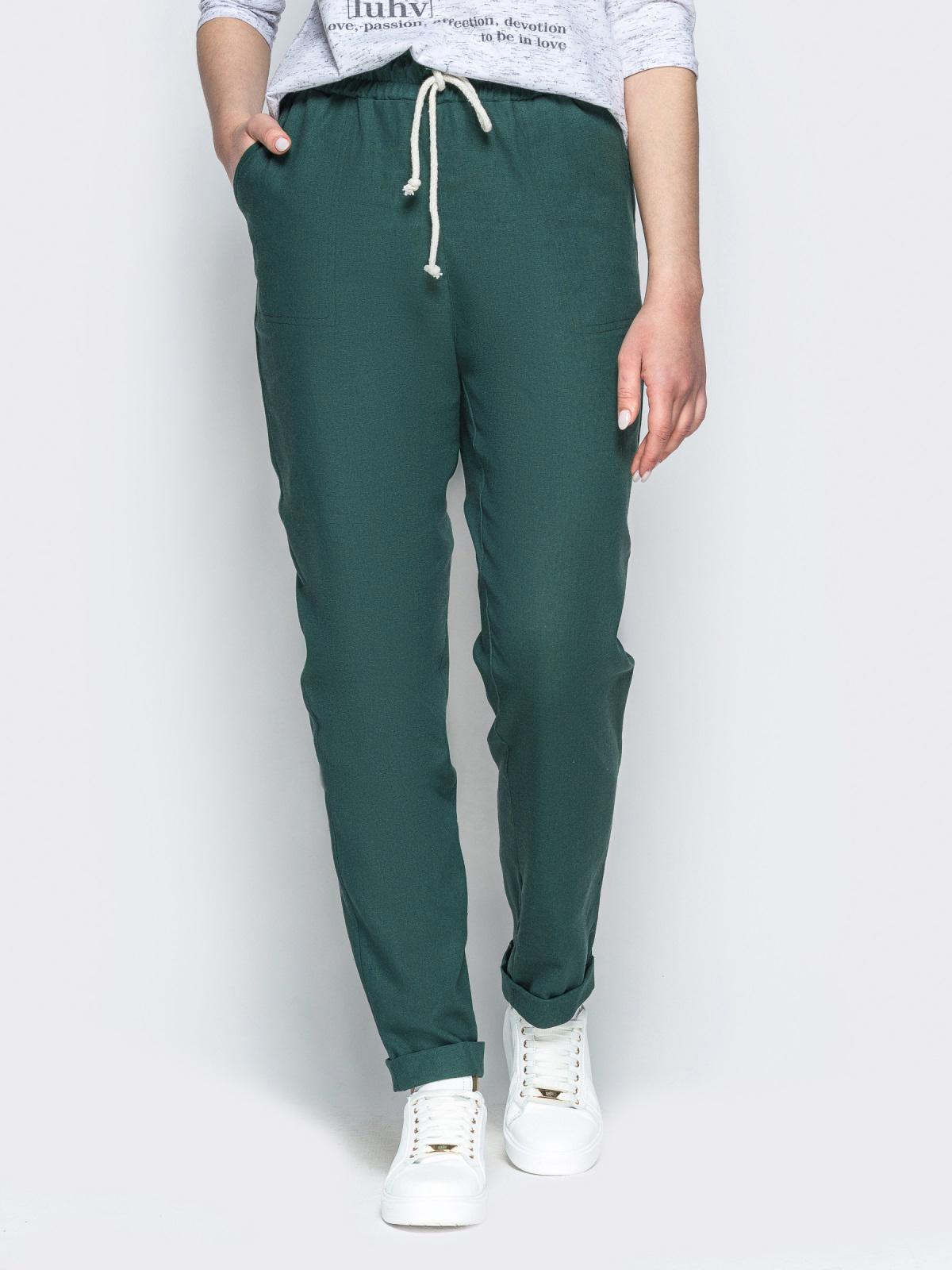 Купить зеленые брюки - интернет-магазин Dressa