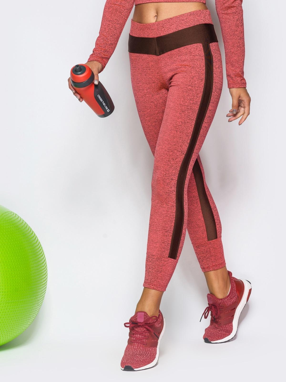 Лосины гранатового цвета с манжетами - 17184, фото 1 – интернет-магазин Dressa
