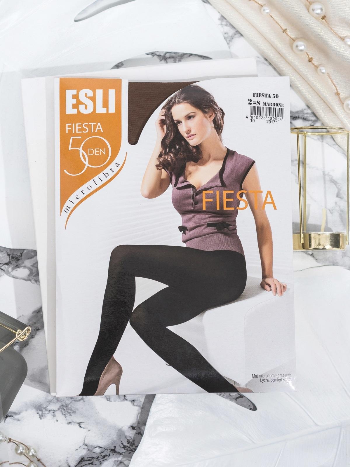 Коричневые колготки Esli Fiesta 50 den 43454, фото 1
