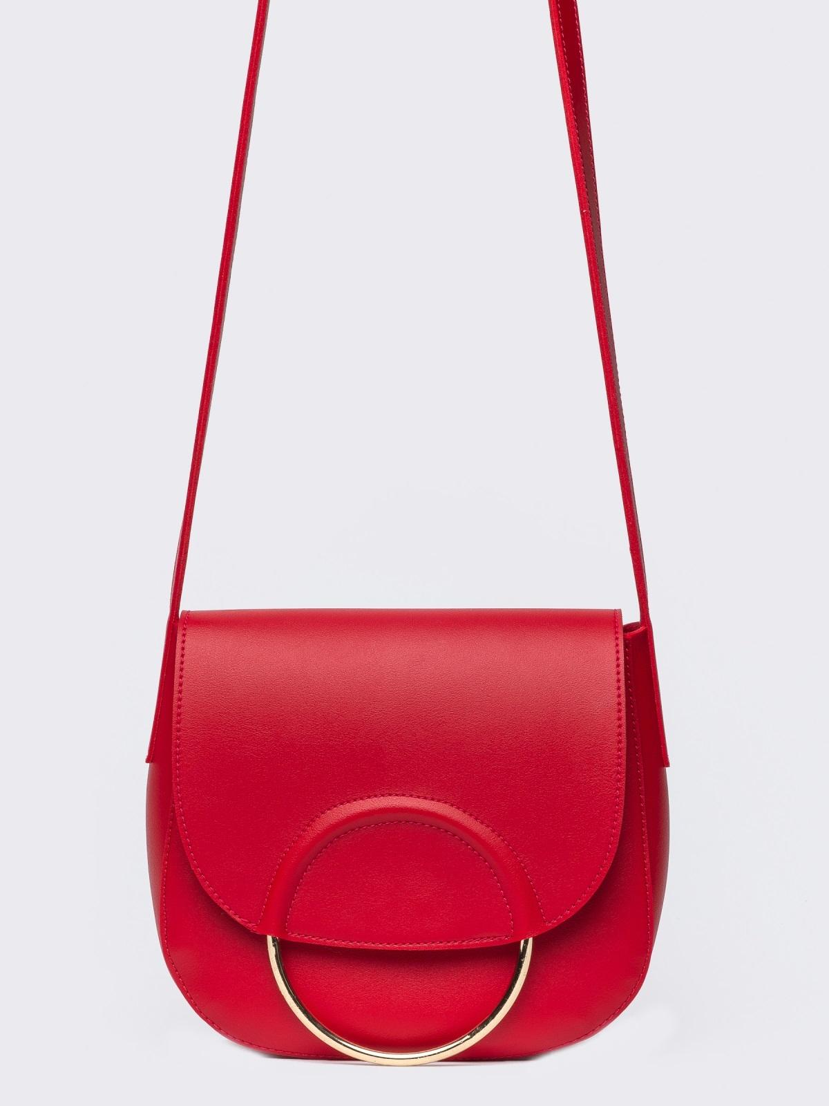 Сумка на плечо красного цвета - 22104, фото 1 – интернет-магазин Dressa