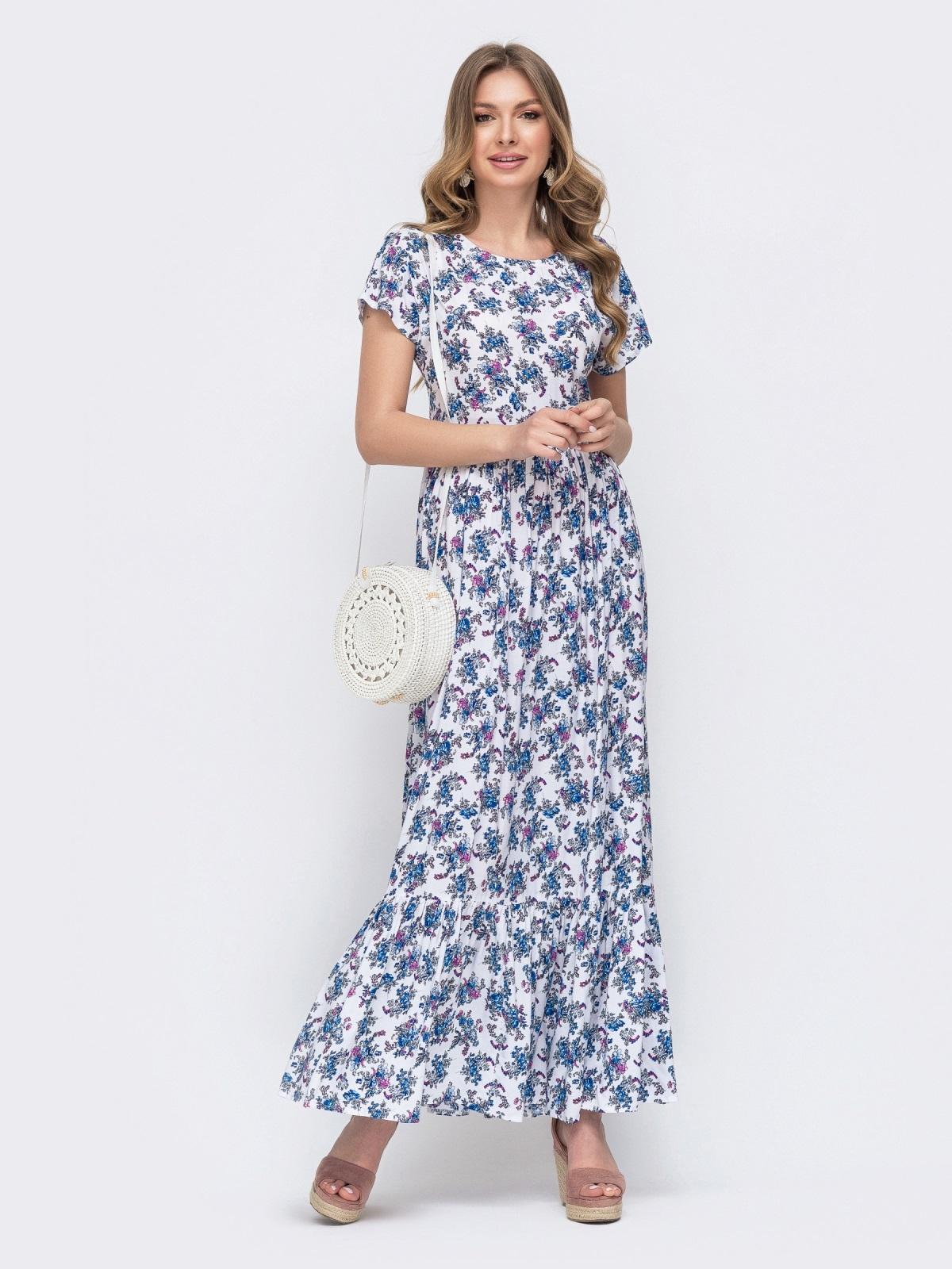 платье макси с цветочным принтом купить