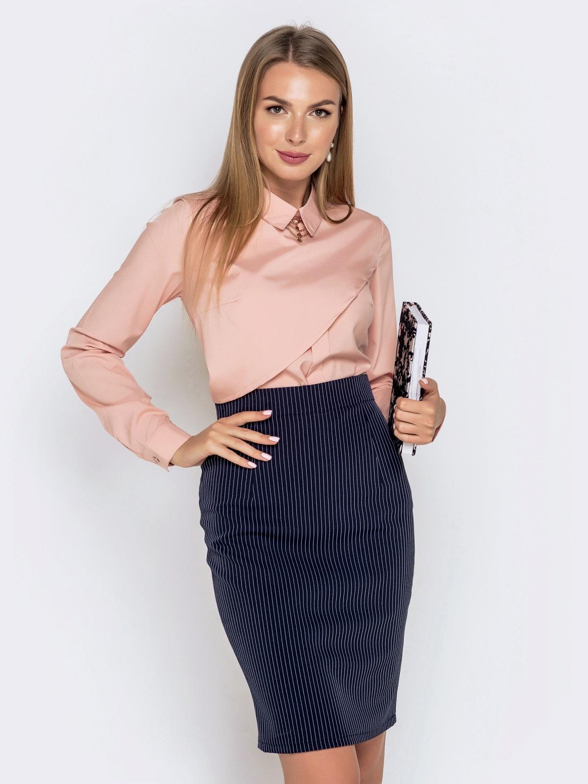 Блузка из софта пудрового цвета - 39990, фото 1 – интернет-магазин Dressa
