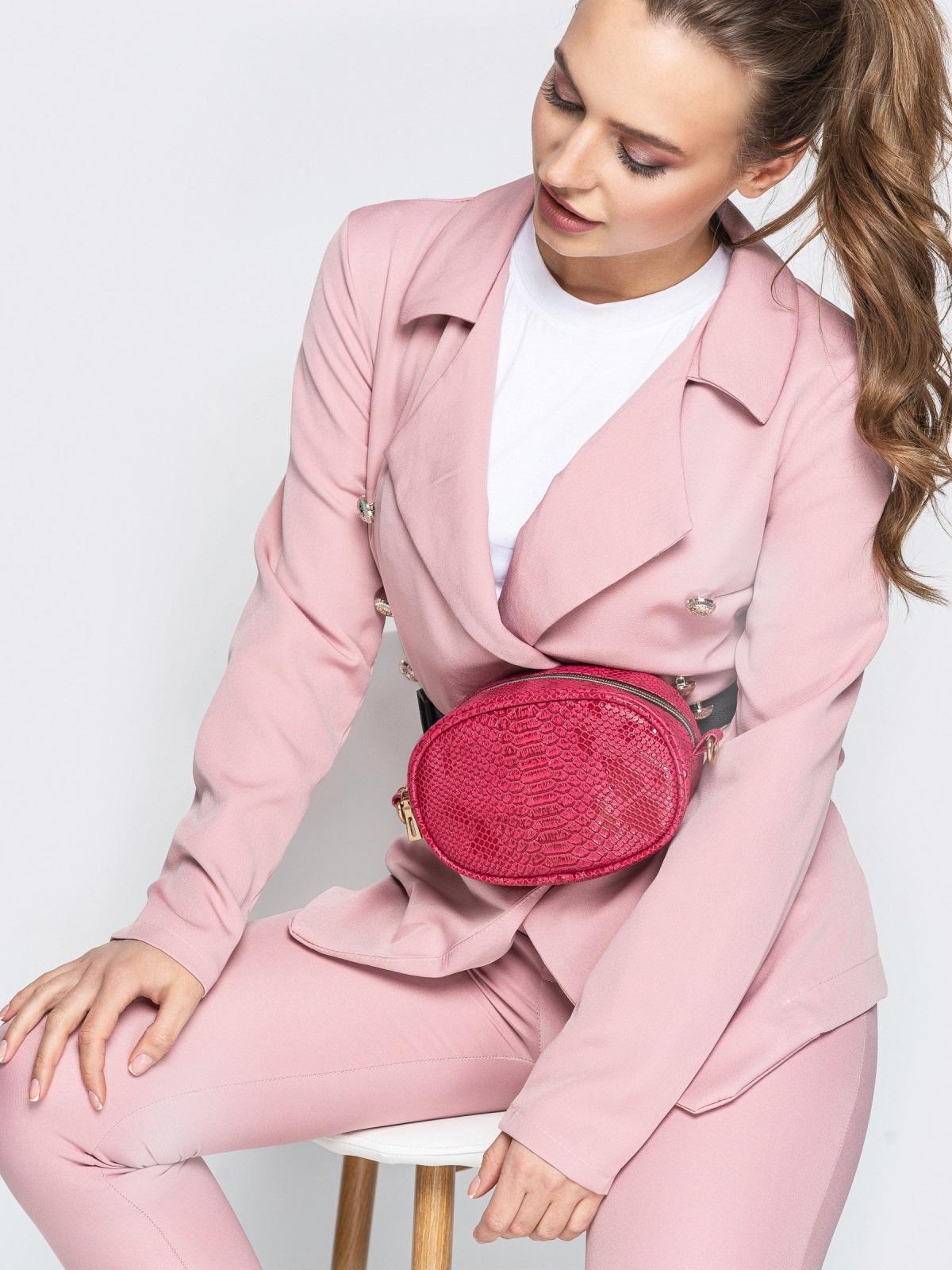 Поясная сумка с дополнительным ремешком красная - 20593, фото 1 – интернет-магазин Dressa