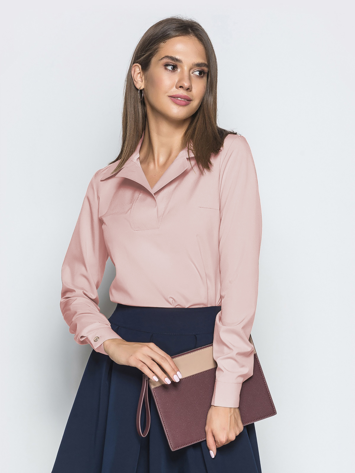 Пудровые блузки - dressa.com.ua