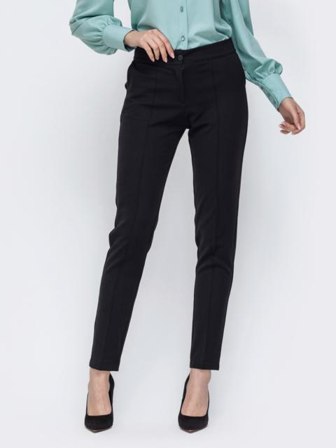 Чёрные брюки с карманами по бокам 44910, фото 1