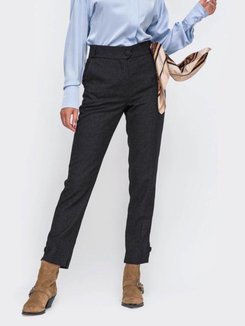 Зауженные брюки серого цвета 52285, фото 1