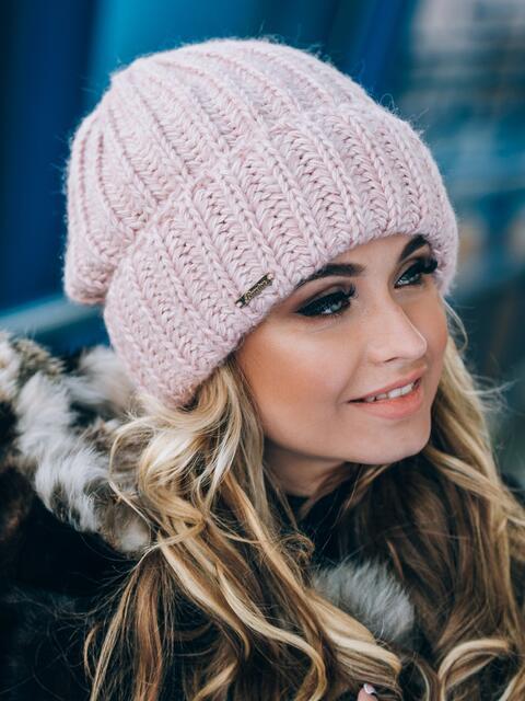 Пудровая шапка без подкладки - 14757, фото 1 – интернет-магазин Dressa