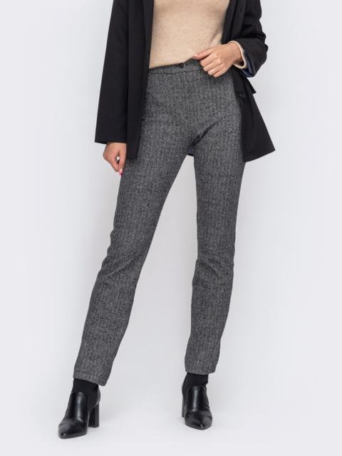 Серые брюки с завышенной талией 50851, фото 1