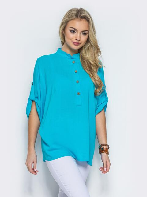 30bd7a377fe Бирюзовая блузка