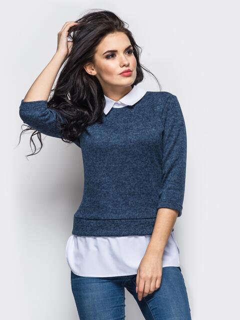Сильная кофта с имитацией блузы по низу - 10594, фото 1 – интернет-магазин Dressa