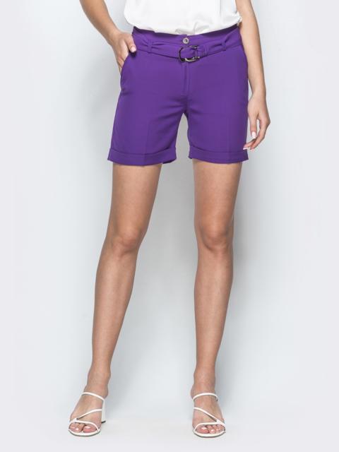 Фиолетовые шорты с карманами - 39410, фото 1 – интернет-магазин Dressa