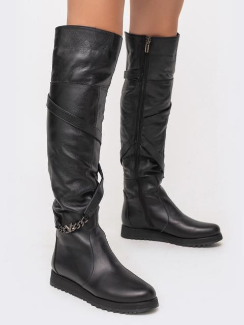 Зимние сапоги из натуральной кожи чёрные - 41677, фото 1 – интернет-магазин Dressa