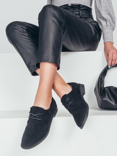 Черные туфли из нубука на низком ходу 50483, фото 1