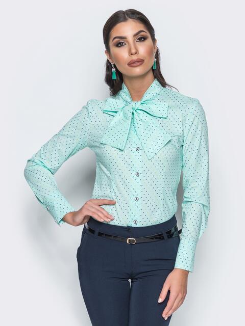 5100c4effed454c Рубашка в разноцветные квадраты мятная - 14565, фото 1 – интернет-магазин  Dressa