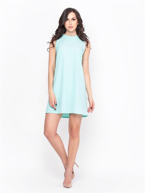 Голубое платье с вырезом и бантом на спине  - 13700, фото 1 – интернет-магазин Dressa