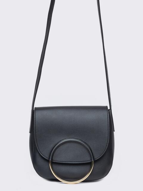 Сумка на плечо черного цвета - 22105, фото 1 – интернет-магазин Dressa