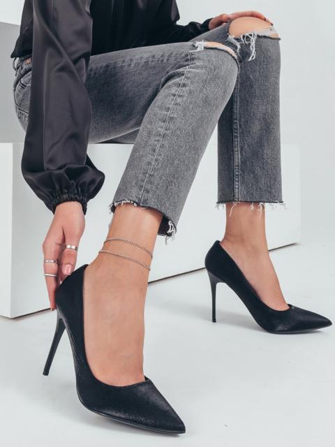 Черные туфли на каблуке-шпильке 50486, фото 1