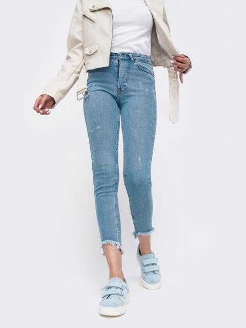Зауженные джинсы с завышенной талией - 45516, фото 1 – интернет-магазин Dressa