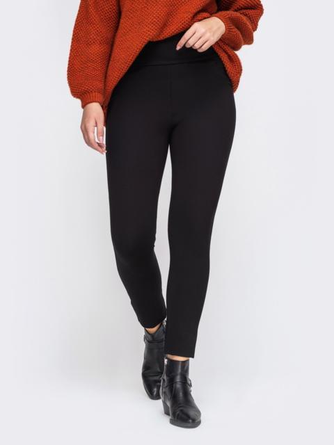Черные брюки с завышенной талией 50747, фото 1