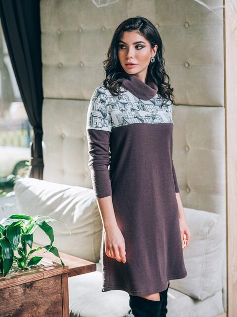 Теплое платье-гольф из ангоры - 22150, фото 1 – интернет-магазин Dressa