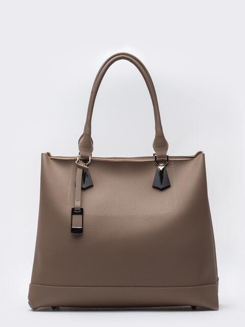 Высокая сумка-тоут с двумя отделениями бежевая - 20530, фото 1 – интернет-магазин Dressa