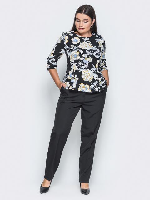 Черный комплект с топом с рукавами - 14453, фото 1 – интернет-магазин Dressa