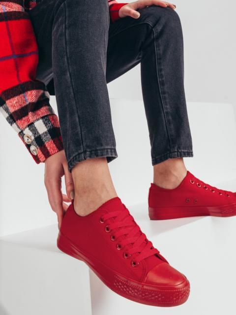 Кеды из текстиля красного цвета 51407, фото 1