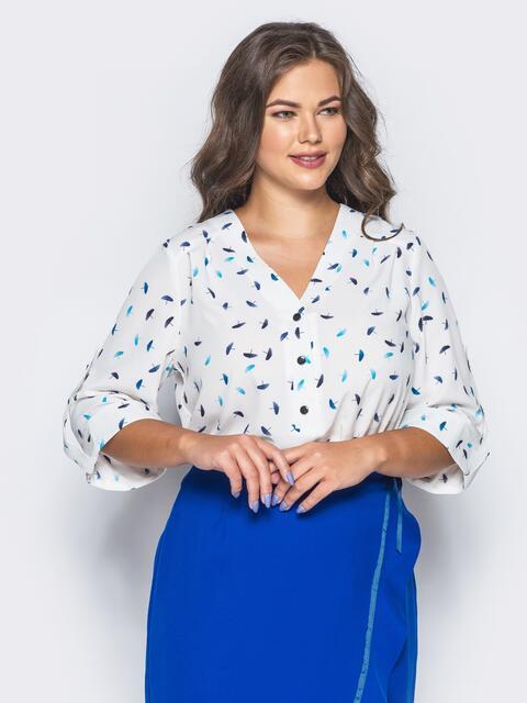 4cf4c6b6d36 Блузка с удлиненной спинкой белая 16624 – купить в Киеве