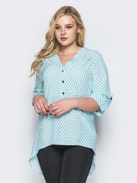 65ad7857c6c Блузка с удлиненной спинкой голубая 16623 – купить в Киеве