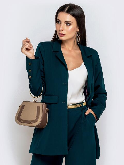Зелёный жакет с подкладкой и карманами - 40465, фото 1 – интернет-магазин Dressa