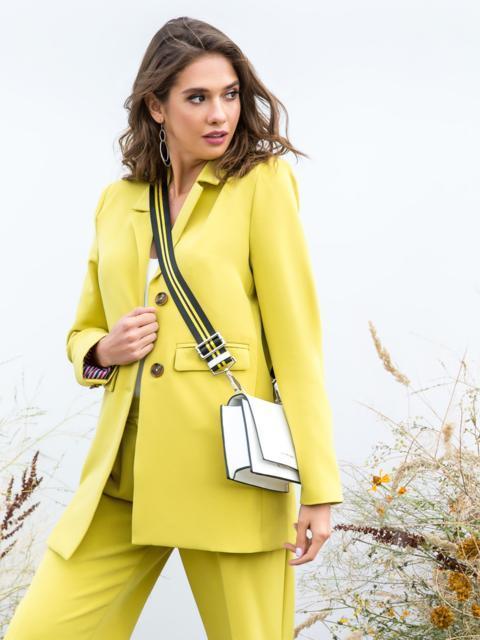 Желтый жакет с подкладкой и карманами - 40466, фото 1 – интернет-магазин Dressa