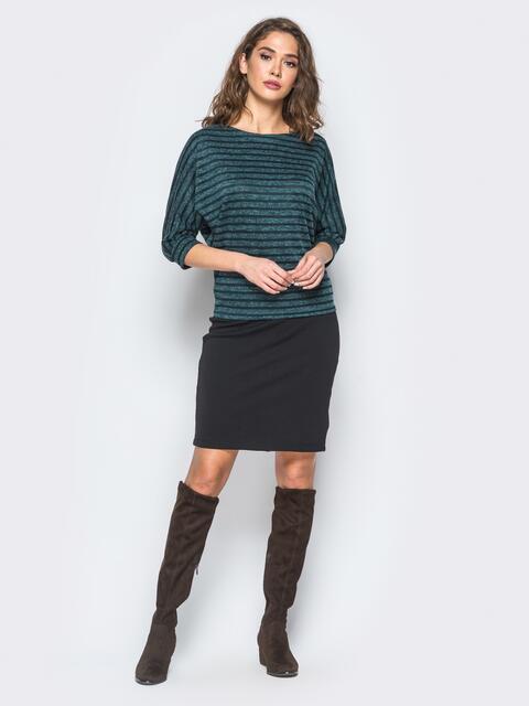Комплект зелёного цвета с кофтой с рукавом доломан - 17301, фото 1 – интернет-магазин Dressa