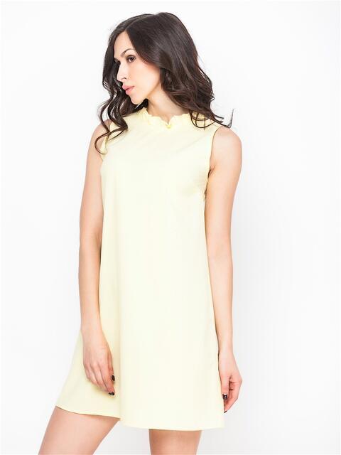 Желтое платье с вырезом и бантом на спине  - 13701, фото 1 – интернет-магазин Dressa