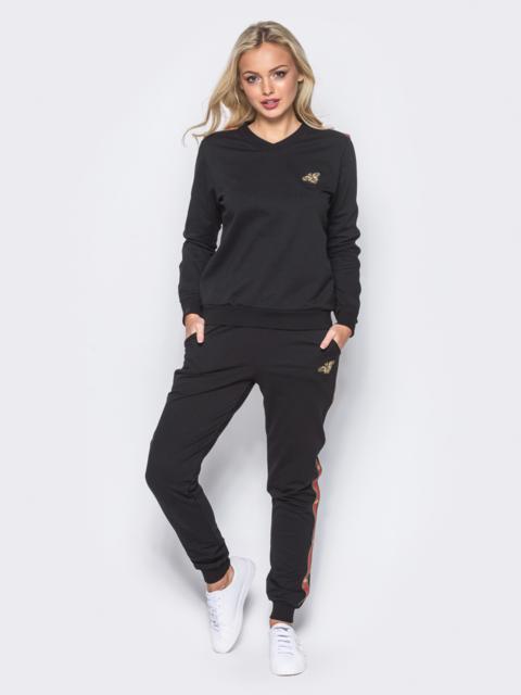 Спортивный костюм с лампасами на брюках - 12004, фото 1 – интернет-магазин Dressa