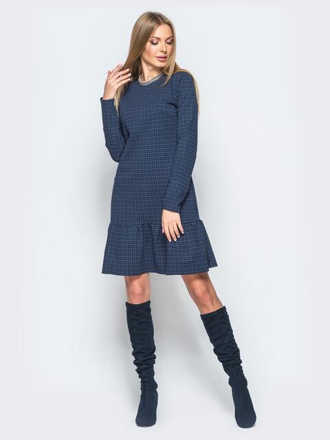 Платье черного цвета с воланом по низу - 17498, фото 1 – интернет-магазин Dressa