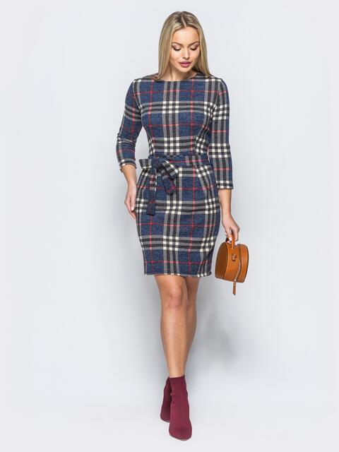 Платье из ангоры с поясом в комплекте - 17612, фото 1 – интернет-магазин Dressa