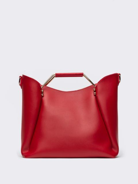 Красная сумка-тоут с металлическими ручками - 22106, фото 1 – интернет-магазин Dressa