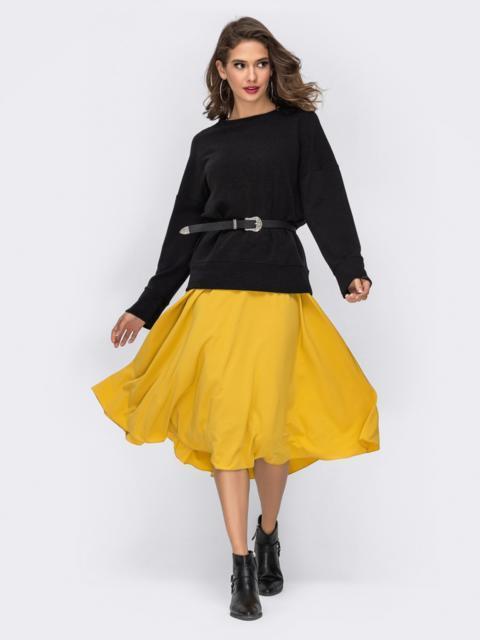 Комплект из свитшота и платья с резинкой по талии - 41986, фото 1 – интернет-магазин Dressa