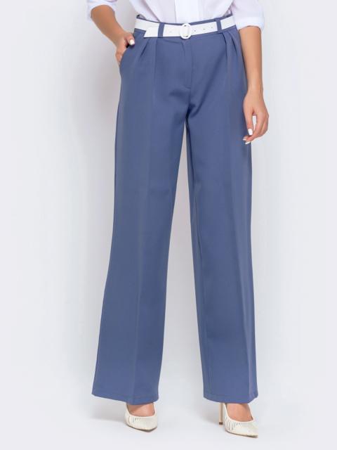 Широкие брюки лилового цвета с завышенной талией - 40502, фото 1 – интернет-магазин Dressa