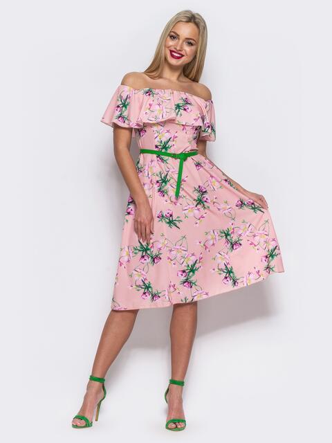 Платье-бюстье А-силуэта розовое - 11479, фото 2 – интернет-магазин Dressa