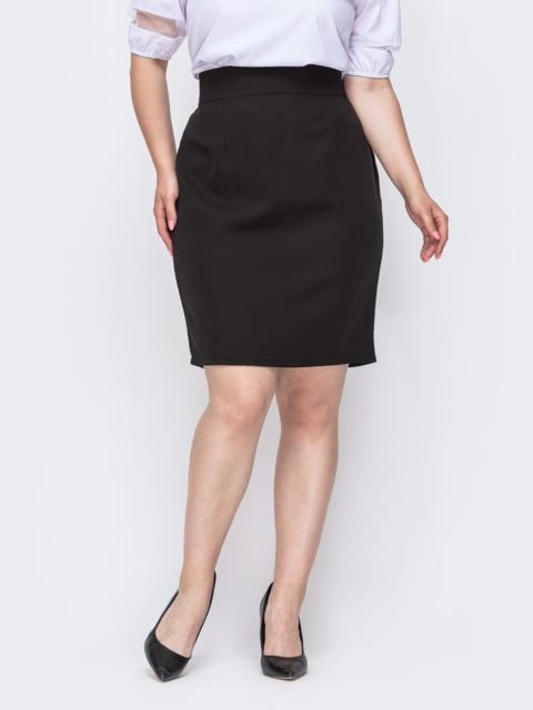 Чёрная юбка-карандаш большого размера 49905, фото 1