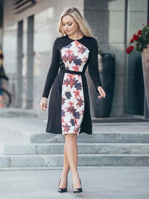db4493905e08b6f Черное платье с принтом