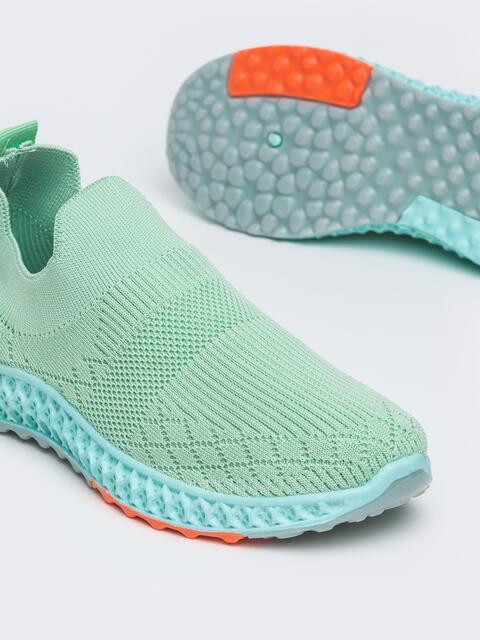 Кроссовки из текстиля зеленого цвета - 45977, фото 1 – интернет-магазин Dressa