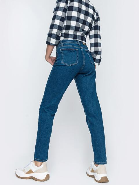 Весенние джинсы-мом синего цвета - 45467, фото 1 – интернет-магазин Dressa