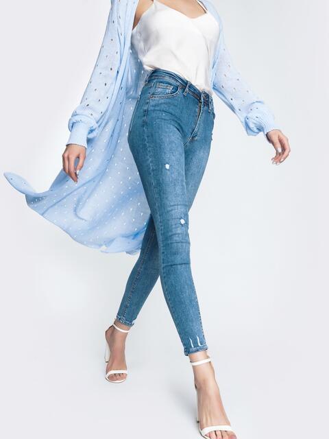 Весенние джинсы-скинни голубого цвета - 45471, фото 1 – интернет-магазин Dressa