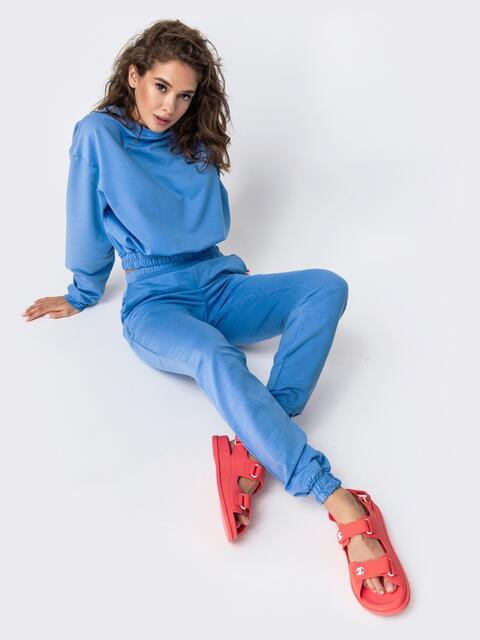 Комплект в спортивном стиле голубого цвета 49352, фото 1